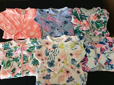 BULK GIRL SIZE 2/3~BONDS ZIPPYS x 5 & BONDS FLORAL JUMPER~CUTE FOR WINTER~VGC
