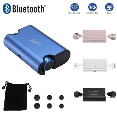 X2T BT4.2 True Wireless Mini Twins Stereo Earbuds Headset Earphone MIC F3U8