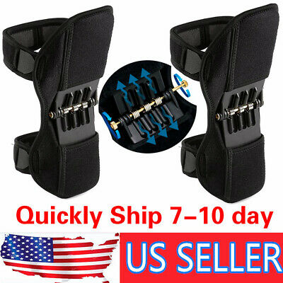 1pair Power Knee Stabilizer Pad Lift Joint Support Powerful Rebound  Force New