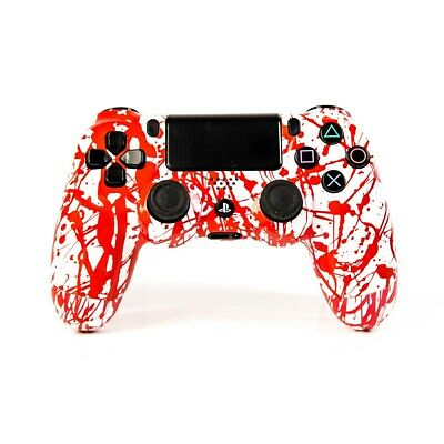 PS4 - DUALSHOCK 4 - Design Rot Weiss (UMBAU) wireless Controller - Playstation 4