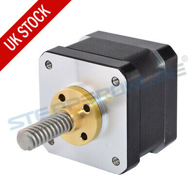 Nema 17 Stepper Motor Linear Actuator External Brass Nut 0.4A 26Ncm 3d printer