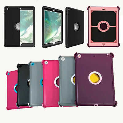 For Apple iPad 9.7 2017 (5th Gen) Defender Case (Shield Stand Fits for Otterbox)