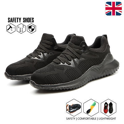 Mens Womens  Safety Shoes Trainers Steel Toe Cap Work Boots Hiking Lightweight