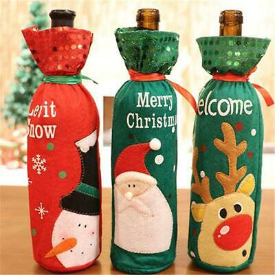 Sequin Christmas Wine Bottle Gift Bags Holiday Christmas Party Weddings Colorful