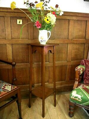 Arts and Crafts Table Circa 1900 -  Solid Oak - 92 cm High