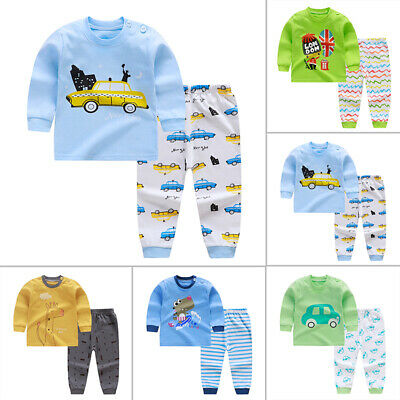 Infant Newborn Baby Girls Boys Cloud CartoonTops Pants Outfits Pajamas Nightwear