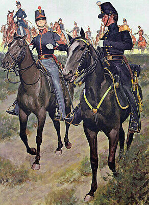 """oil painting handpainted on canvas """"1855 U.S. Army artillery """""""