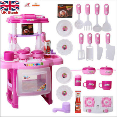 Portable Electronic Music Children Kids Kitchen Cooking Girl Toy Cooker Play Set