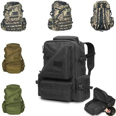 50L Tactical Outdoor Military Molle Rucksack Backpack Camping Hiking Bag