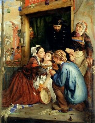 """oil painting handpainted on canvas """" French Peasants Finding Their Stolen Child"""""""