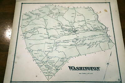1868 Beers Union & Snyder Counties Atlas Map Of Washington Township-Handcolored