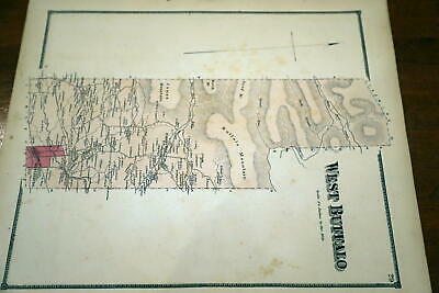 1868 Beers Union & Snyder Counties Atlas Map-West Buffalo Township-Handcolored