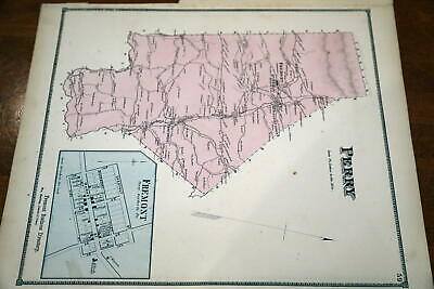 1868 Rare Beers Union & Snyder Counties Atlas Map Of Perry Township-Handcolored