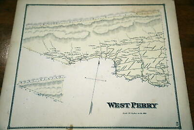 1868 Beers Union & Snyder Counties Atlas Map Of West Perry Township-Handcolored