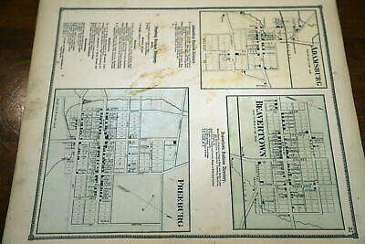 1868 Rare Beers Union & Snyder Counties Atlas City Map Of Freeburg-Handcolored