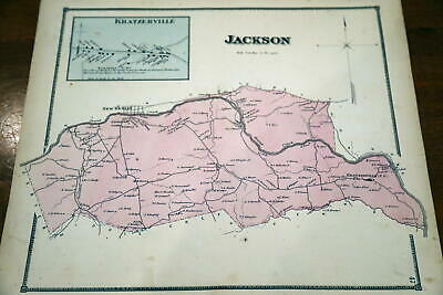 1868 Rare Beers Union & Snyder Counties Atlas Map-Jackson Township-Handcolored