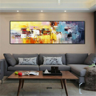 LMOP983 large wide abstract modern hand painted oil painting on canvas art