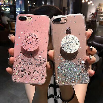 Luxury Diamond Stand Airbag Bracket Case For iPhone 7 8 Plus X XS Max XR Case