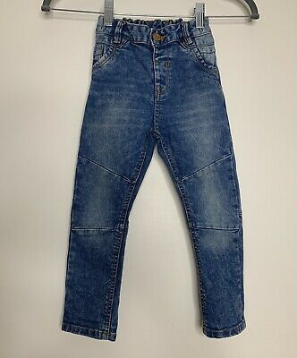 Boys TU Skinny Jeans Age 2-3 Blue Worn Washed Style
