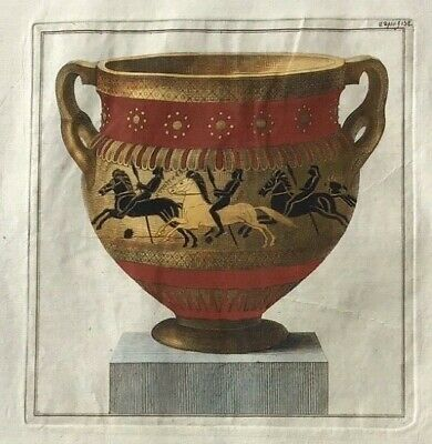 1766 William Hamilton - Folio Antique Engraving - Greek Krater - First Edition