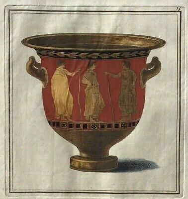 1766 William Hamilton - Folio Antique Engraving - Bell-krater - First Edition