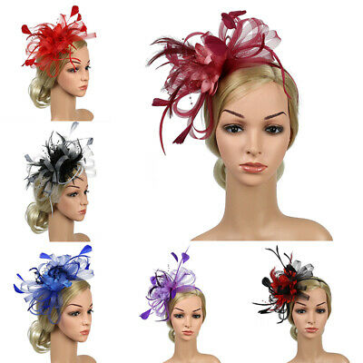 Feather Ascot Hair Accessories Wedding Headband Fascinator Race Royal Flowers