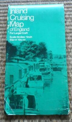 Stanfords Inland Cruising Map of England for Larger Craft vintage fold out 1970