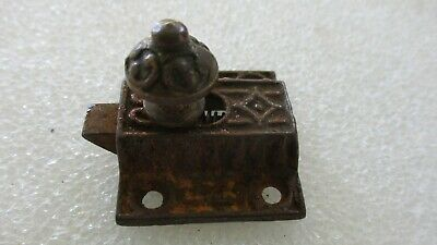 Eastlake Victorian Spring Loaded Cabinet Latch Cast Iron + Brass (No Catch)
