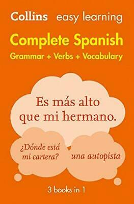 Easy Learning Spanish Complete Grammar Verbs and Vocabulary 3 books in 1 by Coll
