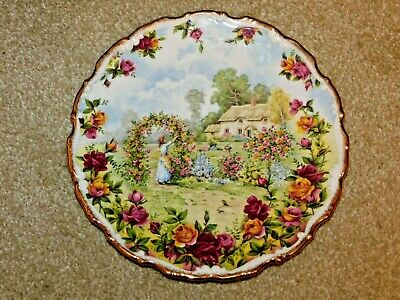 Royal Albert Bone China A Celebration Of The Old Country Roses Garden 1986 Plate