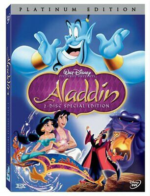 Aladdin (DVD, 2-Disc Platinum Set 2004 ) FREE Shipping New w/ Slipcover