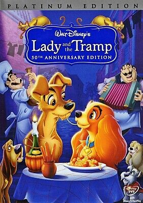 Lady and the Tramp (DVD, 2006 Platinum Edition) FREE Shipping New w/ Slipcover