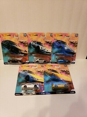 Hot Wheels 2019 Street Tuners Car Culture Complete Set 5 Cars Fpy86-956L 1/64