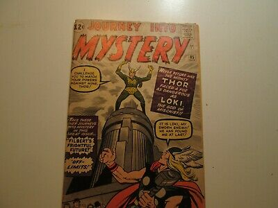 Silver Age Marvel Comic Journey Into Mystery #85 1st Loki 3rd Thor