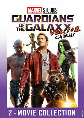 Guardians of the Galaxy Vol. 1 & 2 Combo Pack (DVD, 2-Movie Set 2019) FREE Ship!