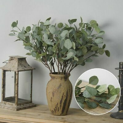 37cm Artificial Fake Leaf Eucalyptus Green Plant Silk Flowers Nordic Decor