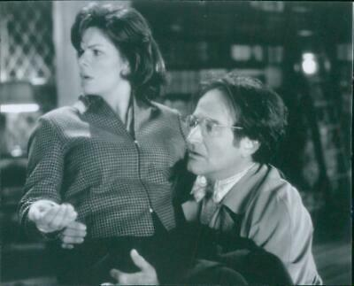"""Marcia Gay Harden and Robin McLaurin Williams in a scene from the movie """"Flubber"""