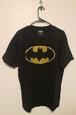 DC Comics Batman Men's Short Sleeve Graphic T-Shirt Black Size Large