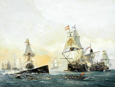Sea War Scene Oil painting Hd Giclee Printed on canvas 16X20 inch P269