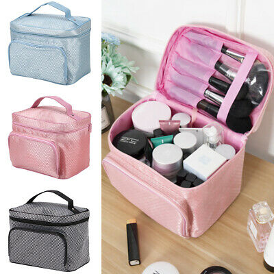Lady Large Make Up Bag Vanity Case Cosmetic Nail Tech Storage Beauty Box Nylon