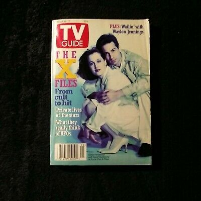 X Files TV Guide From Cult 2 Hit PB David Duchovny Gillian Anderson 1995 3/11-17
