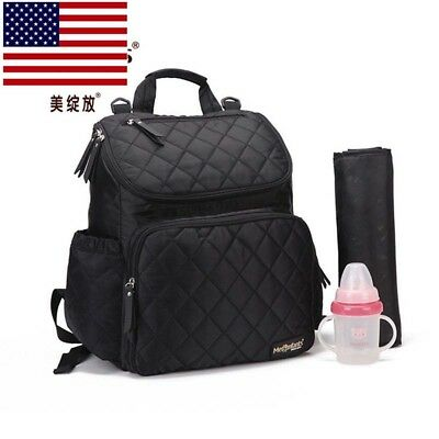 Mummy Maternity Backpack Baby Nappy Diaper Stroller Changing Bag Black for Mom