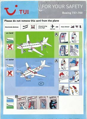 Cpa Pk Ak  Aviation Compagnie Tui Safety On Board  Boeing 737-700