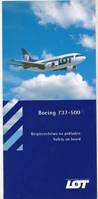 Cpa Pk Ak  Aviation Compagnie Lot Safety On Board  Boeing 737-500
