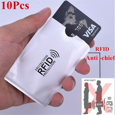 10pcs Anti-Scan Card Sleeves Anti Theft RFID Bank Card Protector Portable Holder