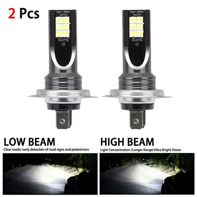 2PCS H7 110W 24000LM LED Car Headlight Conversion Globes Bulbs Beam 6000K Kits