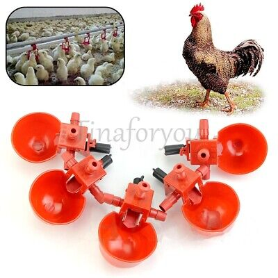 5~50PcsFarm Automatic Chicken  Poultry Water Drinking Cups Feed