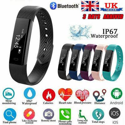 Bluetooth Smart Watch Fitness Tracker Step Calorie Counter Pedometer Sleep Fit