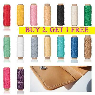 30m/roll Waxed Thread Cotton Cord String Strap for Leather Handicraft Tool
