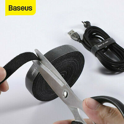 Baseus USB Cable Organizer Management Wire Winder Holder Clip Cord Protector 3m